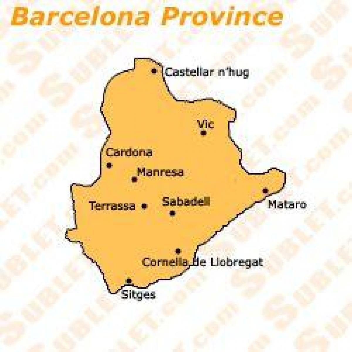 Barcelona Provinsen Karta Karta Over Barcelona Provinsen