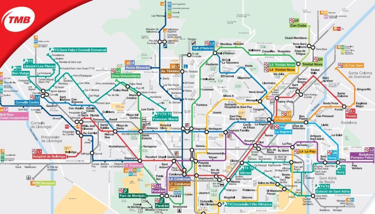 Metro Karta Till Barcelonas Flygplats Karta Av Metro Karta