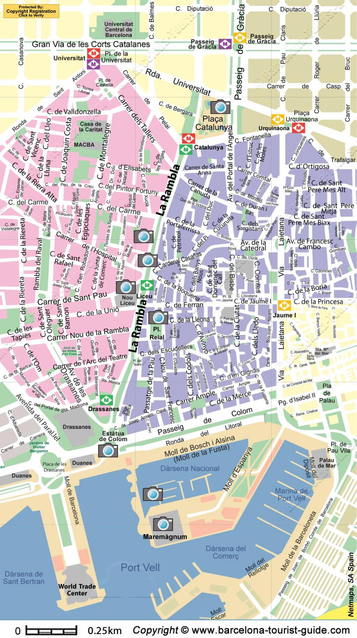 barcelona main street map